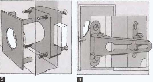 Установка дверного накладного замка своими руками